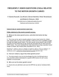 Cerebral Palsy Growth Chart Gmfcs Motor Growth Curves Motor Growth Measures Canchild