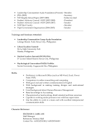 Standard Paper Size Resume Philippines Resume Format Application