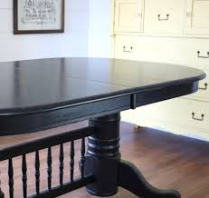 rustic black dining table diy furniturepaint paintedfurniture chalkpaint black liquorice