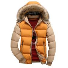 men quilted black winter hoo long sleeve puffer down coat