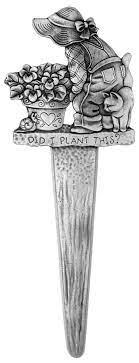 cat gardener themed plant stake