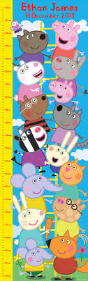 Pig Growth Chart Peppa Pig Growth Chart Red Wrappings