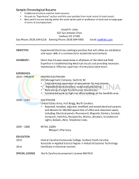Chronological Resume Layout What Is A Chronological Resume