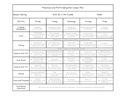 sample lesson plan for preschool preschool lesson plan template 7 in word pdf