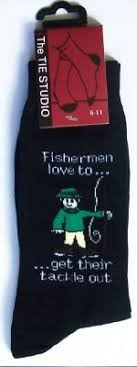 novelty fishing socks fishermans tackle
