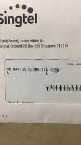 Hello Marcus Chong Yee Hung Or His Gf Pls Settle Ur Letter U