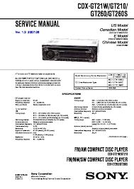 sony cdx gt210, cdx gt21w, cdx gt260, cdx gt260s, cxs gt2113 service Sony Explode Car Stereo Wiring cdx gt210, cdx gt21w, cdx gt260, cdx gt260s, cxs gt2113 sony car audio service manual (repair manual)