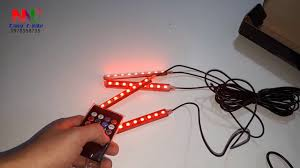 đèn led nháy theo nhạc , trang trí nội thất ô tô và quán bar - YouTube