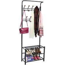 combined shoe rack and coat rail