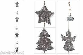 Girlande Metall Weihnachten Fensterhänger Hänger Fensterdeko