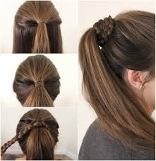 Simple Hairstyles For College New Simple Hairstyle For Girls Step By Step 1000 Images About