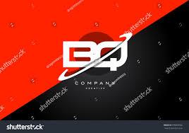 bq b q red black white technology swoosh alphabet company letter logo design  vector icon template