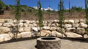 garden rock wall images. rock wall installations traditional-landscape garden images
