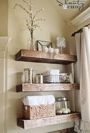 bathroom shelf decor floating shelves diy
