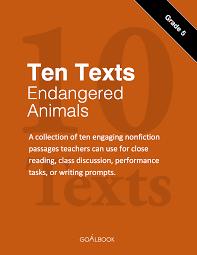ten informational texts endangered animals grade goalbook enlarge