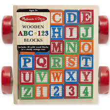 wooden classic abc 123 block cart