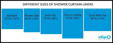 standard shower curtain sizes standard shower curtain liner sizes