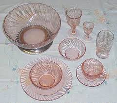 Pink Depression Glass Patterns Classy New Pink Glass