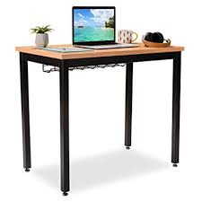 desk tables home office. Brilliant Tables Small Computer Desk For Home Office  36u201d Length Table WCable Organizer Throughout Tables