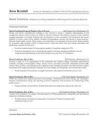 Dental Technician Resume Sample Http Www Resumecareer Info