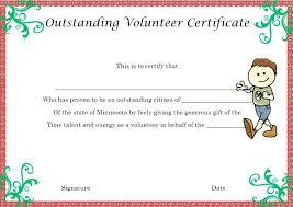 Volunteer Certificate Free Volunteer Certificates Best Certificate Template Award Of The