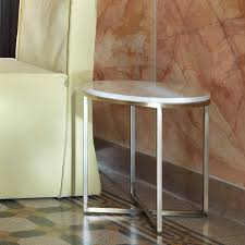 porto round marble side table