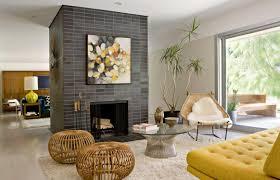 Living Room Enchanting Mid Century Modern Fireplace In Mid Century Modern  Living Room Ideas Pictures Gallery