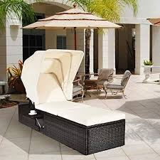 happygrill patio chaise lounge with