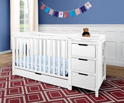 All In One Crib Convertible Ideas Of White Crib And Changing Table Combo