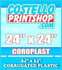 coroplast corrugated plastic sign yard in board home depot materials black