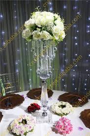 acrylic beaded table top chandelier centerpieces wedding table