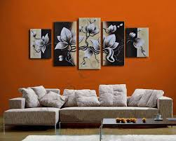 Living Room Oil Paintings Online Cheap 100 Hand Painted Set High Quality White Flower Oil