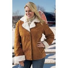 women s comint suede leather jacket cognac