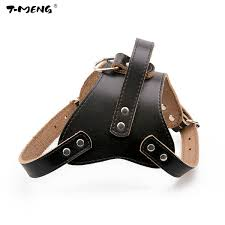 t meng new genuine leather dog harness cool small medium dogs chest strap strong professional