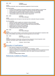 11 A Good Cv Format Childcare Resume