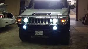 Hummer H2 Fog Light Bulb Hummer H2 Led Bar Hid Headlights Hid Foglights Youtube