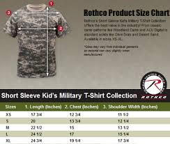 Details About Kids Short Sleeve T Shirt Military Camouflage T Shirt Camo Rothco