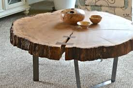 white oak coffee table by