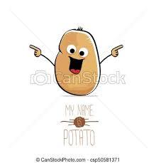 cute potato cartoon. Fine Cute Vector Funny Cartoon Cute Brown Potato Isolated On White Throughout