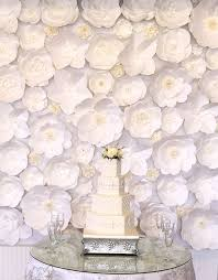 White Paper Flower Backdrop Extra Large Paper Flower Backdrop White Custom Order 2229739
