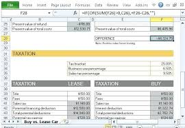 lease vs buy calculator excel auto lease calculator excel excel vlookup tutorial asmex club