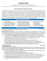 Product Consultant Resumes Software Consultant Resume Example Oracle Systems Financial