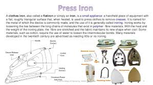 electrical wiring and maintenance 9 a clothes iron