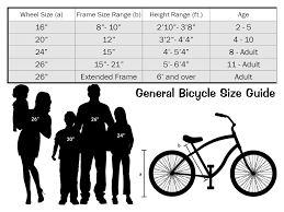 General Bicycle Size Chart