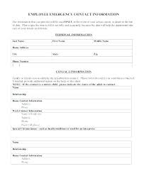 New Employee Information Sheet Template Form Personal