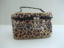whole mac makeup bag leopard print