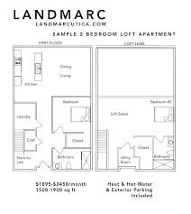 Floor Plans  Landmarc - Loft apartment floor plans