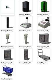 Vending Machine Cad Block Plan Cool Sketchup Retail 48D Models Download Free Cad Blocks Drawings