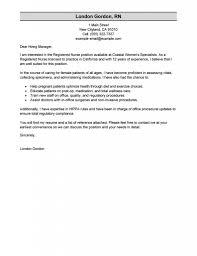 New Grad Nurse Cover Letter Example Sample Nursing For Resume