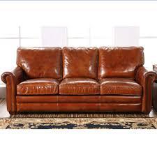 Retro Barrington Antique Leather Sofa Antique Leather Sofa O63